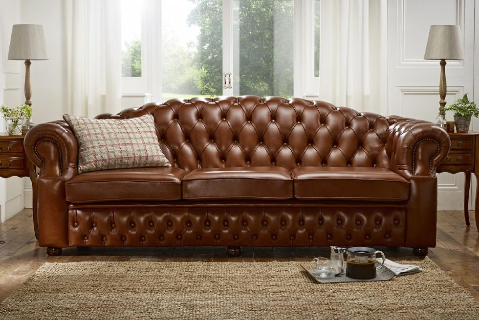 Kodu: 7970 - Klasik Luxury Kahverengi Chester Koltuk