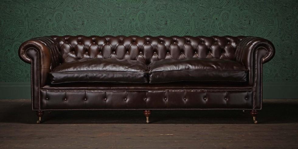 Kodu: 7974 - Koyu Kahverengi Chester Koltuk Hakiki Deri