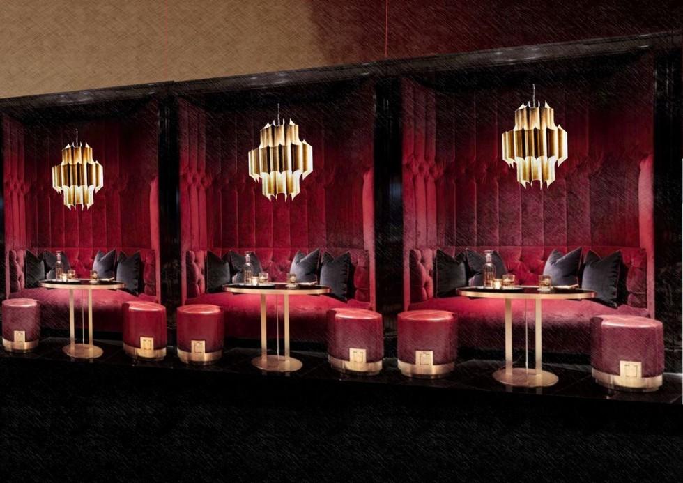 Kodu: 7835 - Özel Üretim Kadife Chester Sedir Koltuk Restoran Cafe Bar Tasarımı