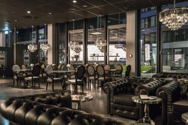 Deri Chester Koltuk Ve Sandalyeler Restoran İç Mekan Tasarımı