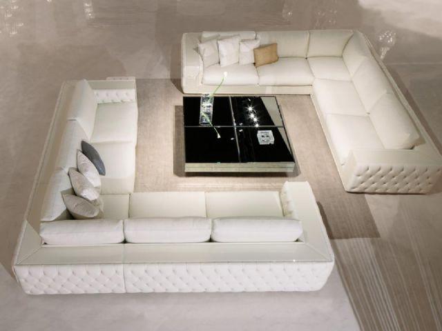 Modern Chester Köşe Koltuk Beyaz Kar Beyaz Chester Köşe Koltuk Takımı