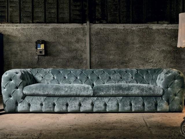 Modern Tasarım İtalyan Chester Kanepe Kadife